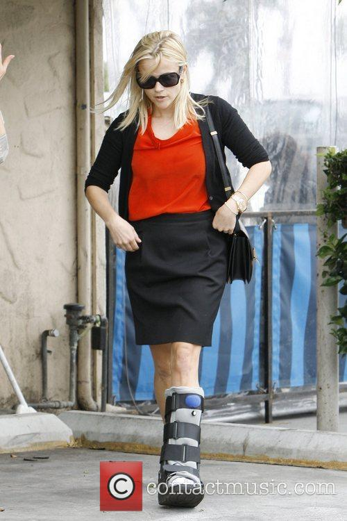 Reese Witherspoon, currently with a cast on her...