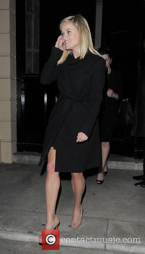 Reese Witherspoon spends the evening at Home House....