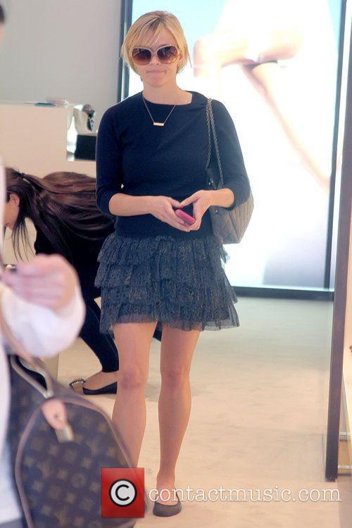 Reese Witherspoon shopping for shoes in Beverly Hills...