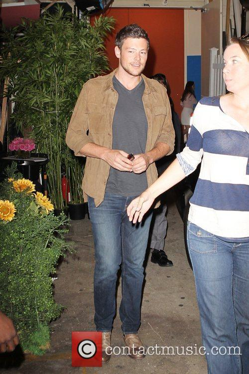 Cory Monteith outside the ABC studios for 'Live...
