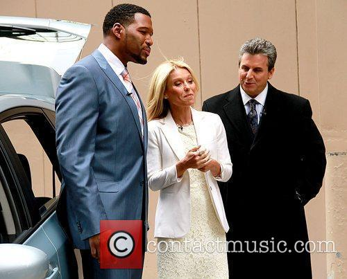 Michael Strahan, Kelly Ripa, and Alan Taylor...