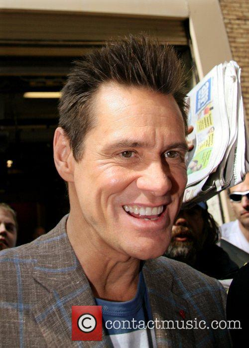 Jim Carrey  leaving the ABC studios after...