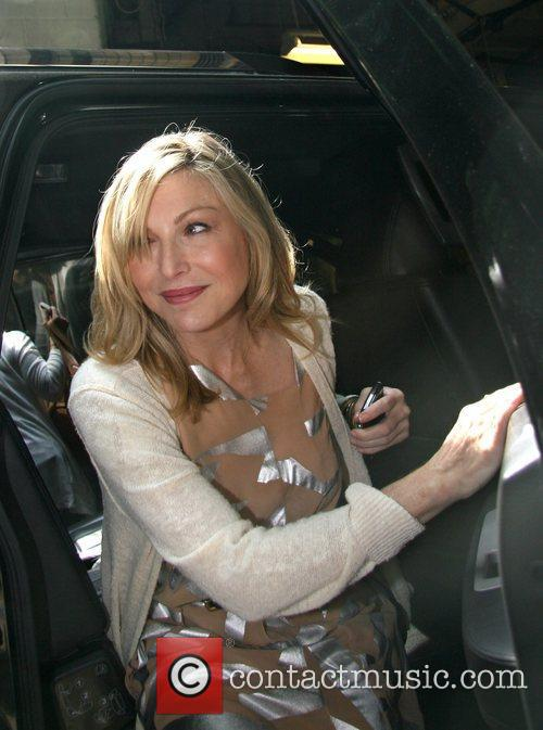 Tatum O'Neal leaving the ABC studios after appearing...