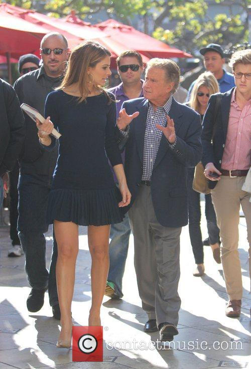 Regis Philbin and Maria Menounos filming an appearance...