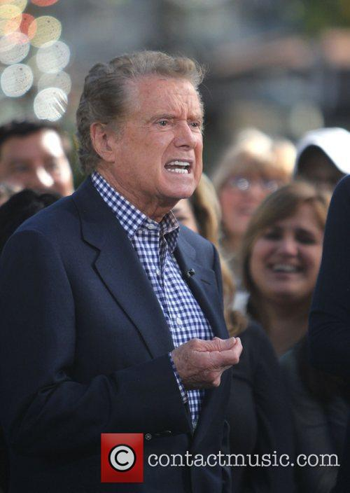 Regis Philbin filming an appearance on the entertainment...