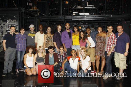 The cast with Larry Keigwin and Michael Greif...
