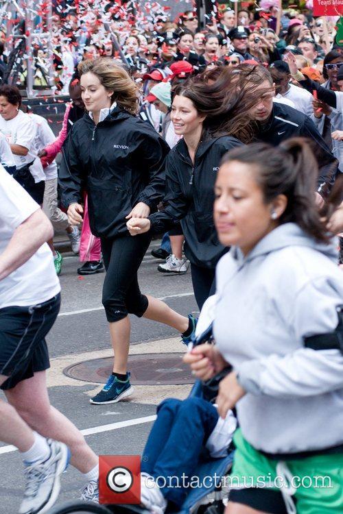 Jessica Biel running 14th Annual Revlon Walk/Run for...