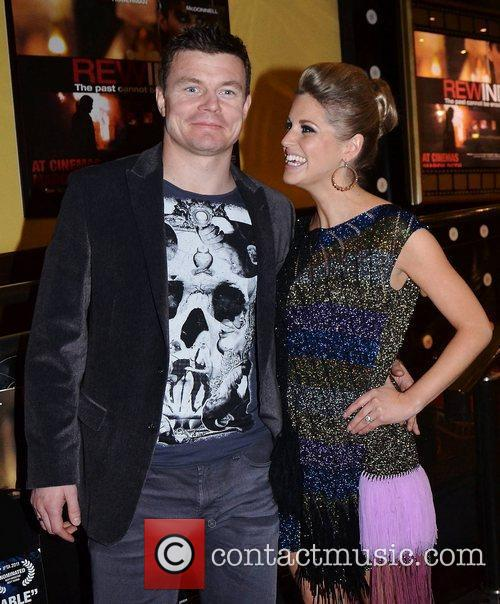 Brian O'Driscoll and Amy Huberman film premiere of...