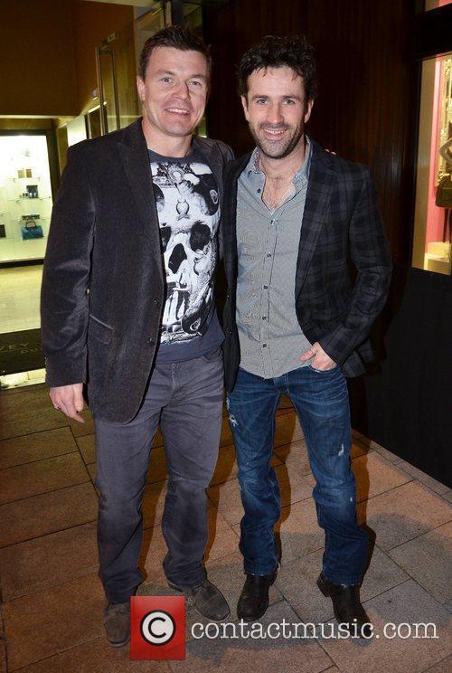 Brian O'Driscoll and Adam Fergus film premiere of...