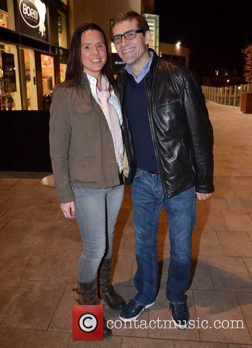 Denise Munier and Nick Munier film premiere of...