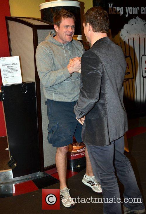 Michael Sharpe and Brian O'Driscoll film premiere of...