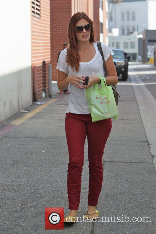 Leaving a salon in Beverly Hills where she...