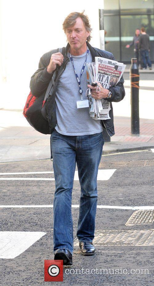 Richard Madeley arriving at the BBC Radio Two...