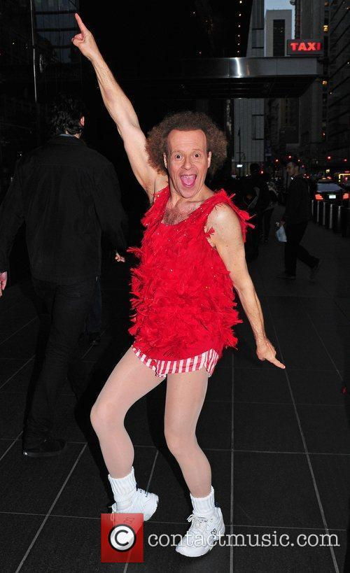 Richard Simmons and Time Warner Building