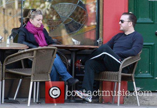 ricky gervais and his partner jane fallon 3582539