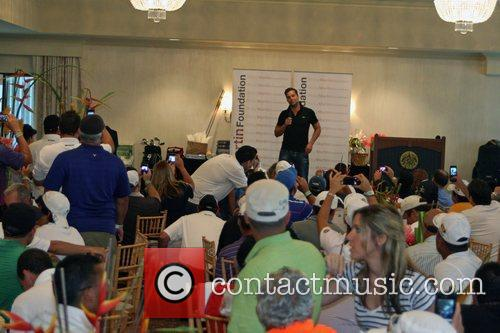 Addresses players participating in the Ricky Martin Foundation's...