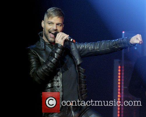Ricky Martin performing on stage at Casino Rama...