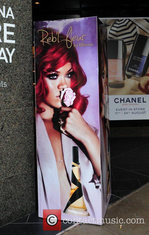 Rihanna signage outside the 'House of Fraser' store...