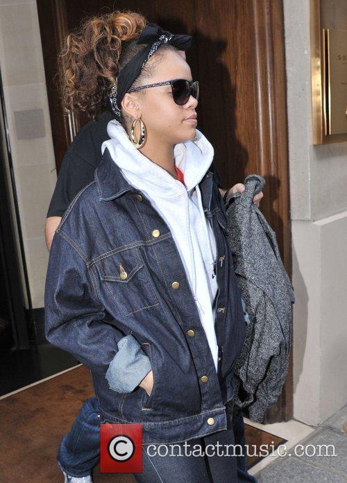 Rihanna is seen leaving Hotel Sofitel Paris Le...
