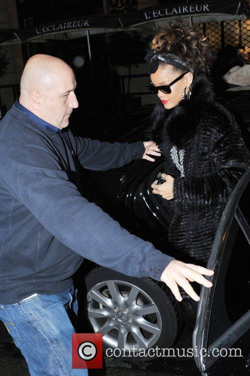 Is seen leaving Hotel Sofitel