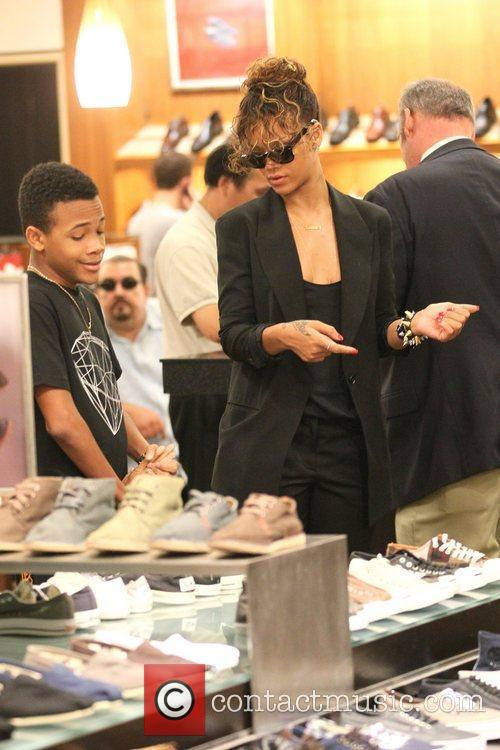Rihanna takes her younger brother Rajad to Nordstrom...