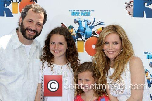 Judd Apatow, Leslie Mann with Daughters Los Angeles...
