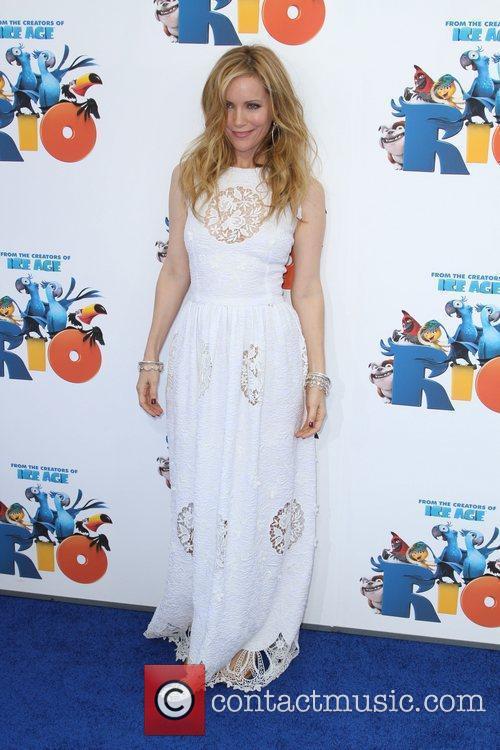 Leslie Mann Los Angeles premiere of 'Rio' held...