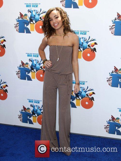 Savannah Jayde Los Angeles premiere of 'Rio' held...