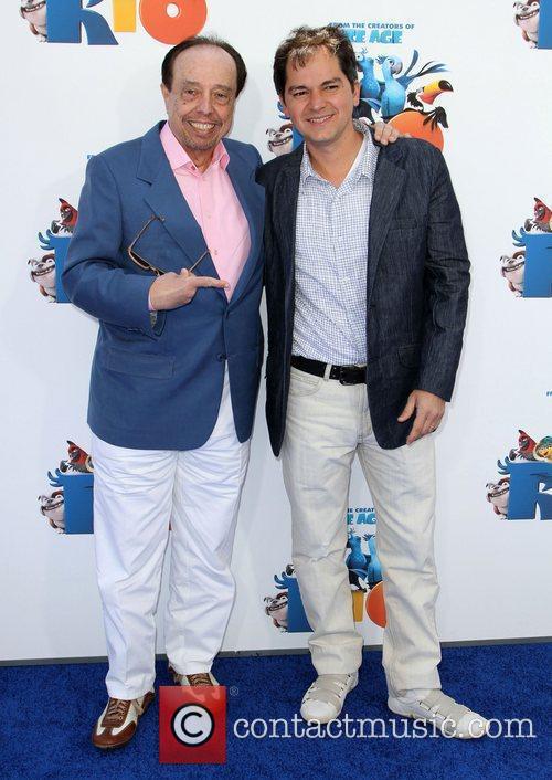 Sergio Mendes, Carlos Saldanha Los Angeles premiere of...