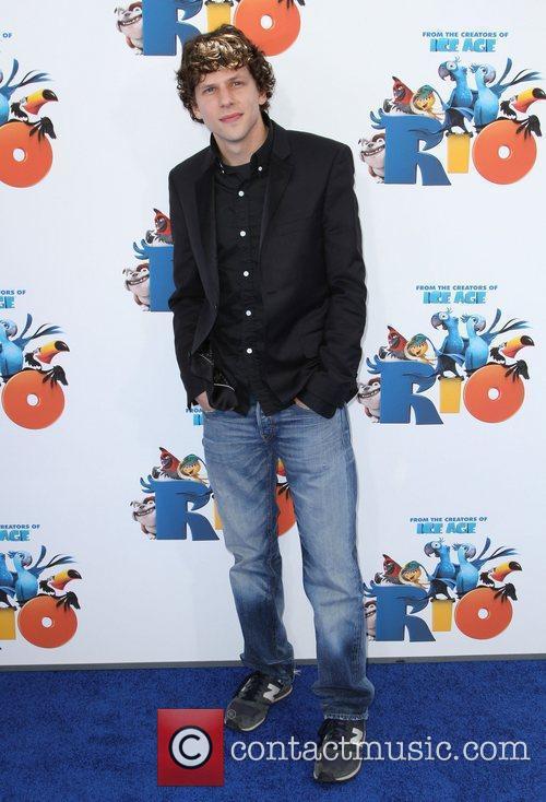 Jesse Eisenberg Los Angeles premiere of 'Rio' held...