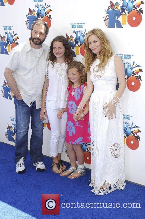 Leslie Mann, family,  Los Angeles premiere of...