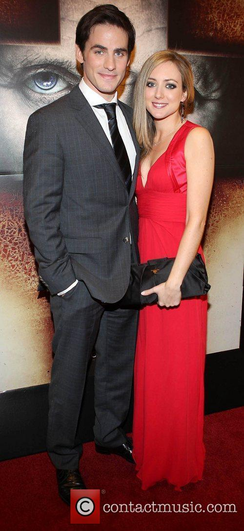 Actor Colin O Donoghue and his wife Helen...