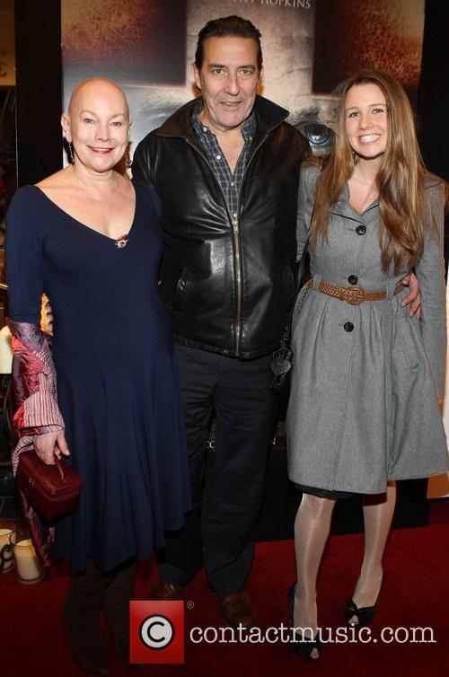 Actor Ciaran Hynds with actress Kate Thompson (left)...