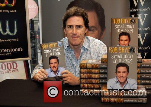 Rob Brydon  meets fans and signs copies...