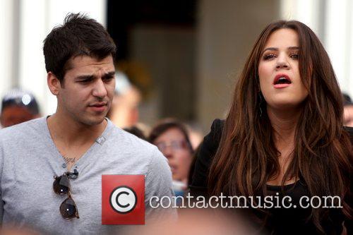 Rob Kardashian and Khloe Kardashian interviewed for entertainment...