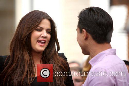 Khloe Kardashian interviewed by Mario Lopez for entertainment...