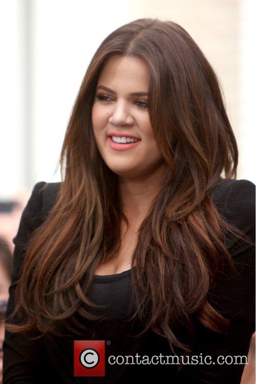 Khloe Kardashian interviewed for entertainment television news programme...