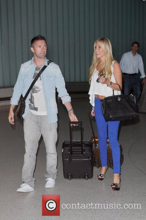 Robbie Keane and Claudine Palmer Irish footballer Robbie...