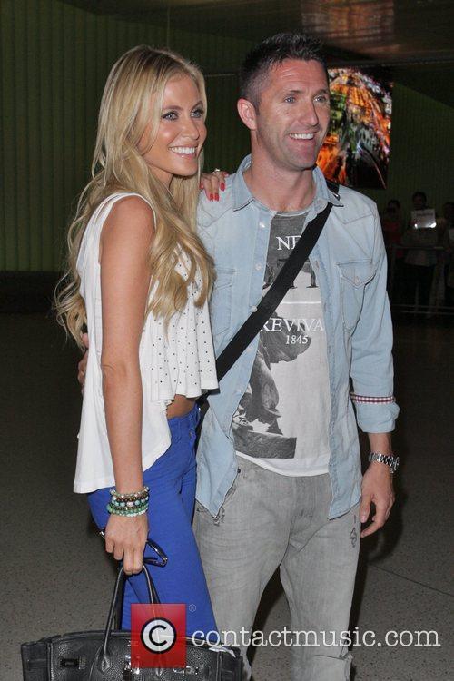 Claudine Palmer and Robbie Keane Irish footballer Robbie...