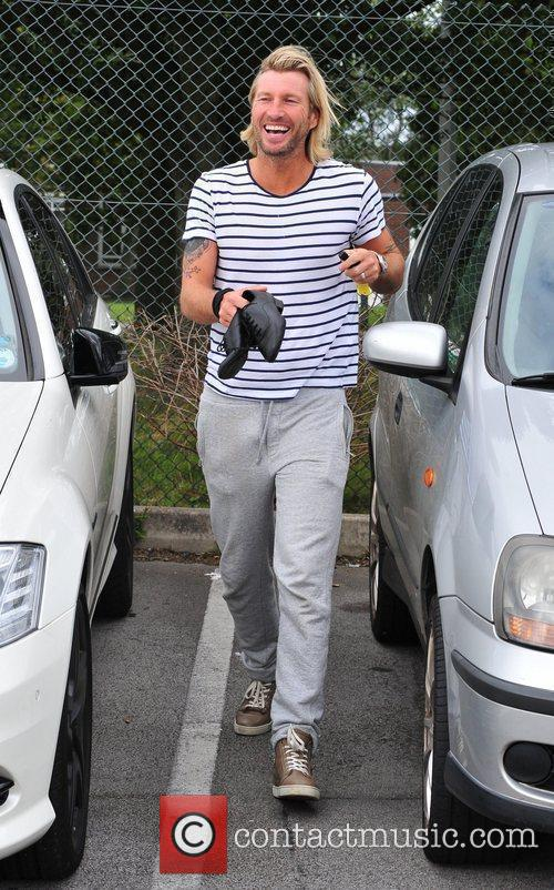 Arriving for 'Strictly Come Dancing' rehearsals
