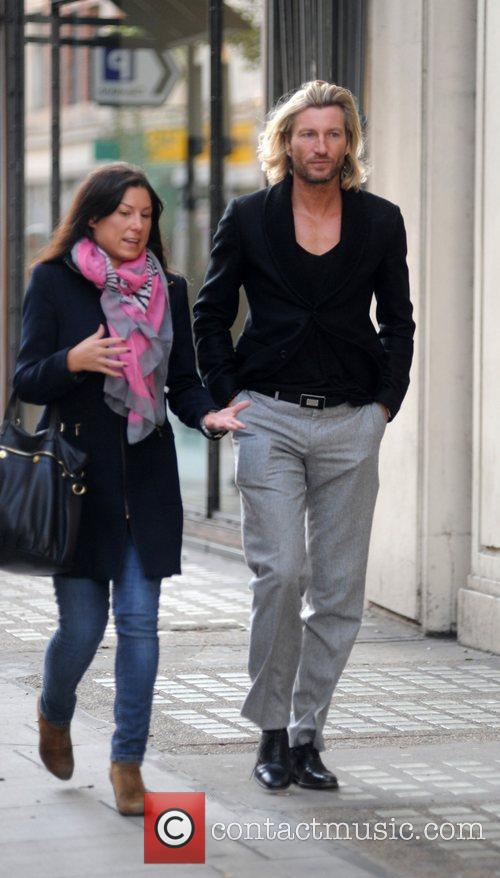 Robbie Savage out and about in central London...