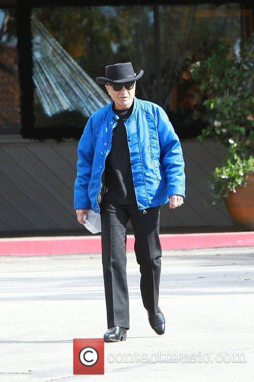 Robert Blake leaves a cafe after having breakfast