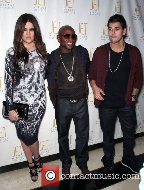Khloe Kardashian, Floyd Mayweather and Robert Kardashian Robert...
