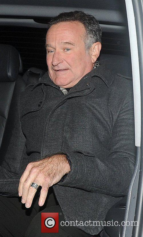 Robin Wiliams is seen departing after a 'Happy...