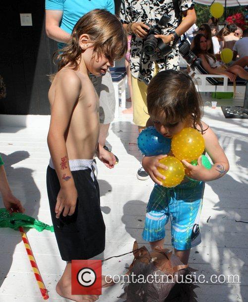Christian Audigier's son Rocco celebrates his birthday with...