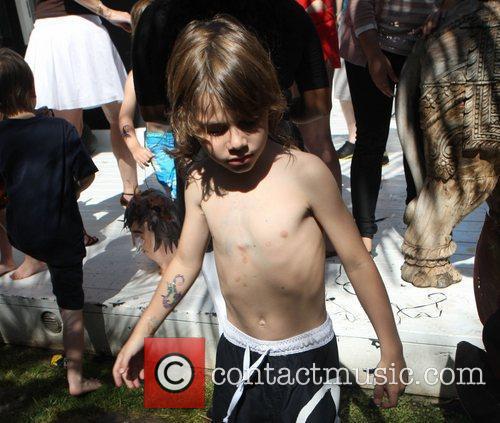 Rocco Audigier  Christian Audigier's son Rocco celebrates...