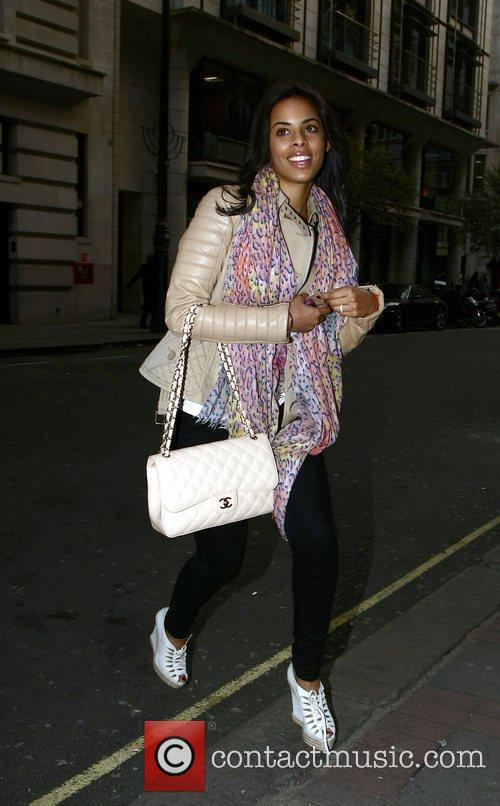 Rochelle Wiseman outside the May Fair hotel London,...