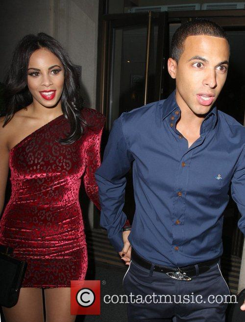 Rochelle Wiseman and Marvin Humes leave the May...