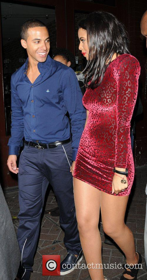 Marvin Humes and Rochelle Wiseman outside Alto Club...