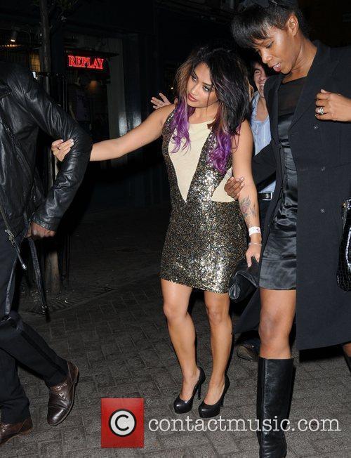 Vanessa White outside Alto Club to attend Rochelle...